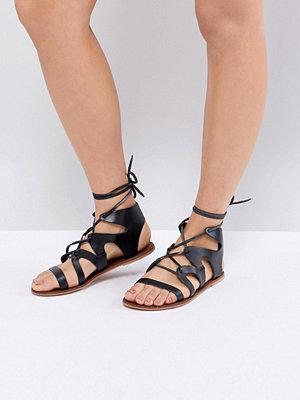 Warehouse Leather Gladiator Sandals