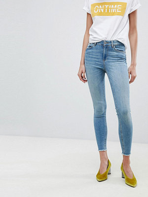 Pieces Cropped Mid Rise Skinny Jean