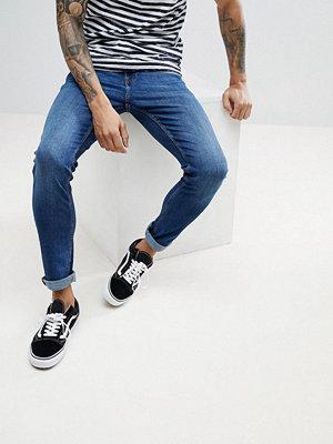 Produkt Skinny Fit Jeans In Mid Blue Denim
