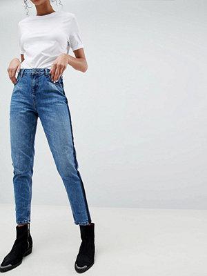 Selected Boyfriend Jeans Side Detail - Medium blue denim