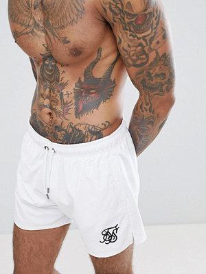Badkläder - Siksilk Swim Shorts In White