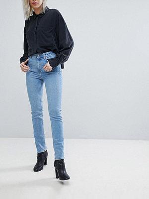 Weekday Way High Waist Slim Leg Jean With Raw Hem