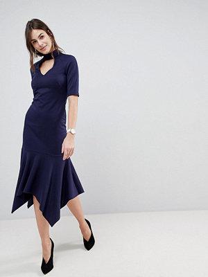ASOS DESIGN midi dress with pephem and collar