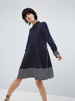 Warehouse Stripe and Spot Shirt Dress