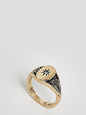 ASOS Curve ASOS DESIGN Curve vintage style signet pinky ring