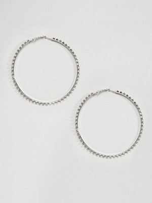 DesignB London örhängen Oversized Rhinestone Statement Hoop Earrings