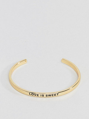 Pieces armband Love Is Sweet Gold Bangle