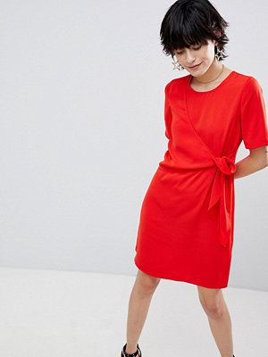 Warehouse Tie Front Dress