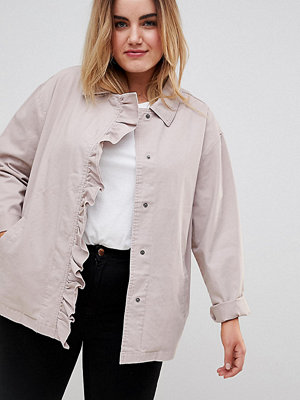 ASOS Curve Shacket with Frill Detail