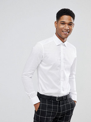 Skjortor - Reiss Slim Smart Shirt In White
