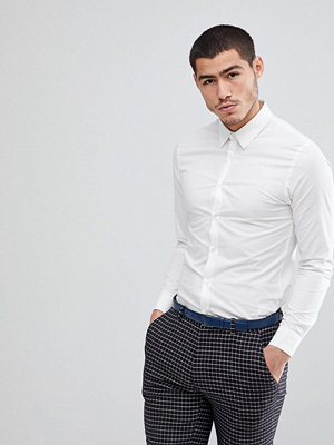 Skjortor - KIOMI Slim Fit Stretch Shirt In White