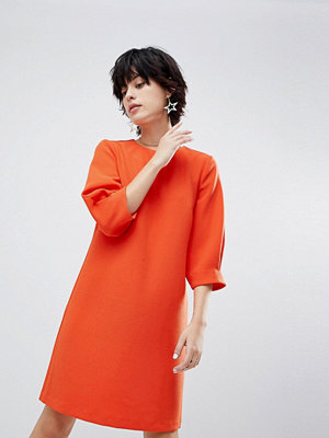 Warehouse Sleeve Tuck Crepe Dress
