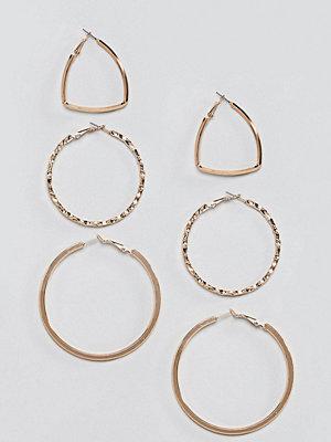 Reclaimed Vintage örhängen Inspired Hoop Multi Pack Earrings