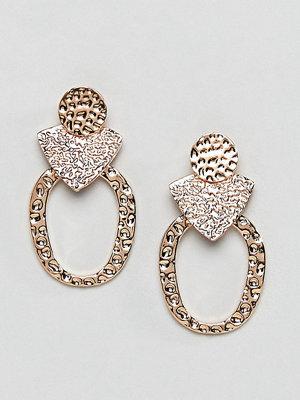 Reclaimed Vintage örhängen Inspired Hammered Earrings