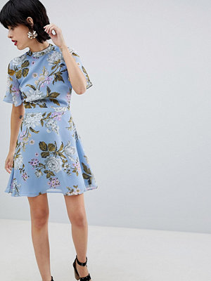 Warehouse Floral Print Tea Dress