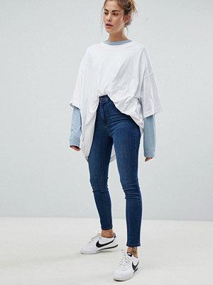 Pull&Bear Super Skinny High Waist Jeans - D blue