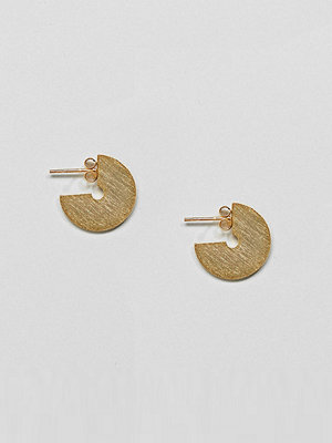 ASOS örhängen DESIGN gold plated sterling silver sleek satin finish solid hoop earrings