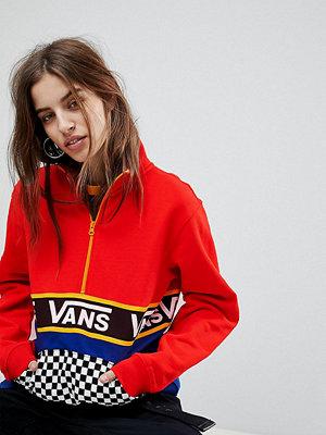 Vans Exclusive Half Zip Jacket In Colour Block With Checker Board Pocket