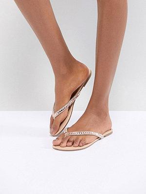 Oasis Diamante Flat Sandal
