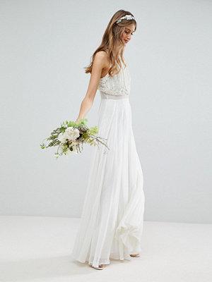 ASOS Edition Maxi Wedding Dress with Pearl Crop Top