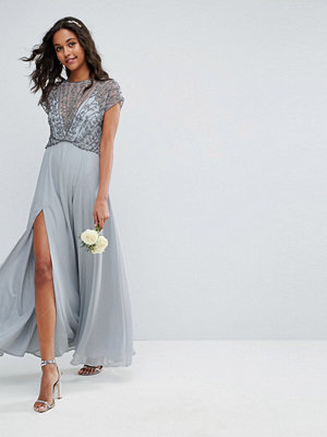 ASOS Bridemaid Delicate Beaded Bodice Maxi Dress