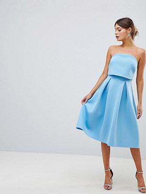 ASOS DESIGN Bandeau Crop Top Prom Midi Dress
