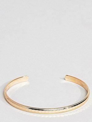 ASOS Curve armband ASOS DESIGN Curve minimal faceted cuff bracelet