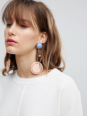 ASOS örhängen DESIGN resin and stone geo drop earrings