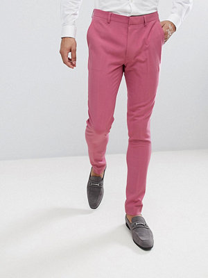 ASOS Super Skinny Smart Trousers In Rose Pink