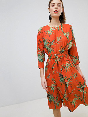 Warehouse Barbican Collection Tropical Printed Tea Dress