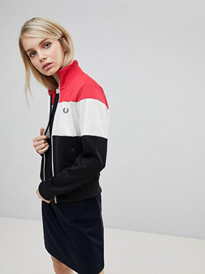 Fred Perry Colour Block Track Jacket - 608 navy