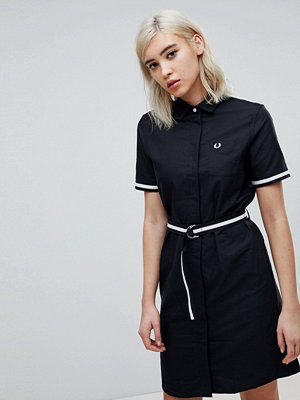 Fred Perry Belted Shirt Dress - 102 black