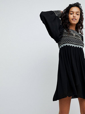 Free People Late Night Picnic Smock Dress