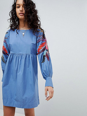 Free People Mini Obsessions Floral Mutton Sleeve Dress