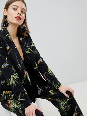 Warehouse Barbican Collection Tropical Printed Blazer