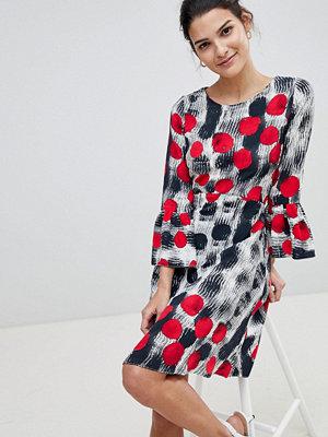Closet London Closet Spotty Fluted Sleeve Dress