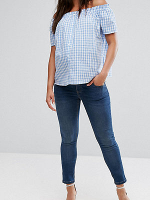 ASOS Maternity Ridley Skinny Jean In Mid Wash With Over The Bump Waistband - Mid wash
