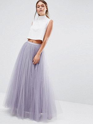 Little Mistress Maxi Tulle Prom Skirt - Dusky lilac