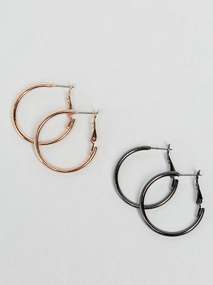 ASOS örhängen Pack of 2 Simple Hoop Earrings