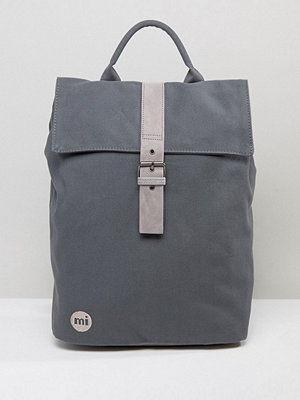 Mi-Pac ryggsäck Canvas Fold Top Backpack in Charcoal
