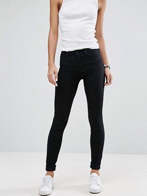 Weekday Body Superstretchiga jeans med smal passform Svart