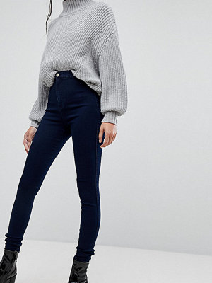 Missguided Tall Vice Blå skinny jeans med hög midja och superstretch Indigo