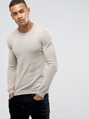 ASOS Muscle Fit Cotton Jumper In Pink