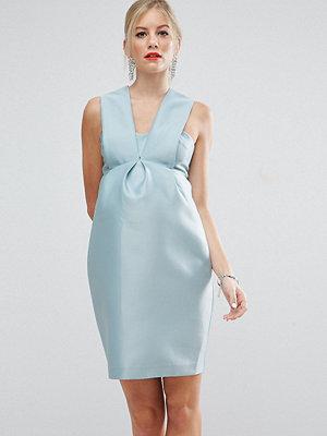 ASOS Maternity SALON Pleat Front Dress - Mint
