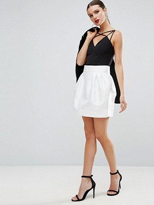 ASOS High Waisted Mini Skirt in Satin
