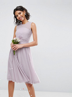 ASOS DESIGN Bridesmaid midi dress with ruched panel detail