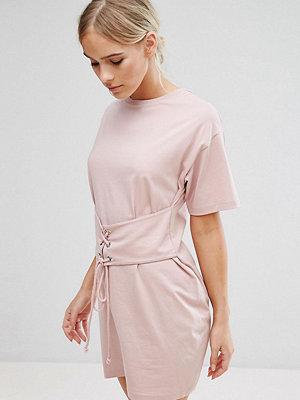 ASOS Petite Corset Detail T-Shirt Dress