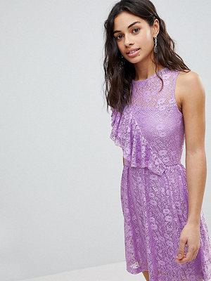 ASOS Petite Ruffle Detail Lace Skater Dress