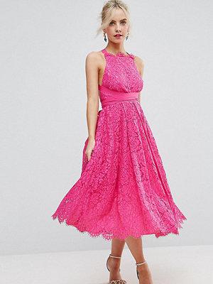 ASOS Petite SALON Lace Halter Pinny Midi Prom Dress