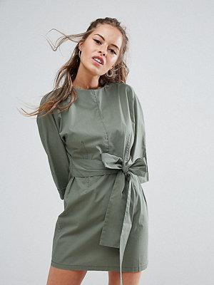 ASOS Petite Casual Tie Waist Mini Dress
